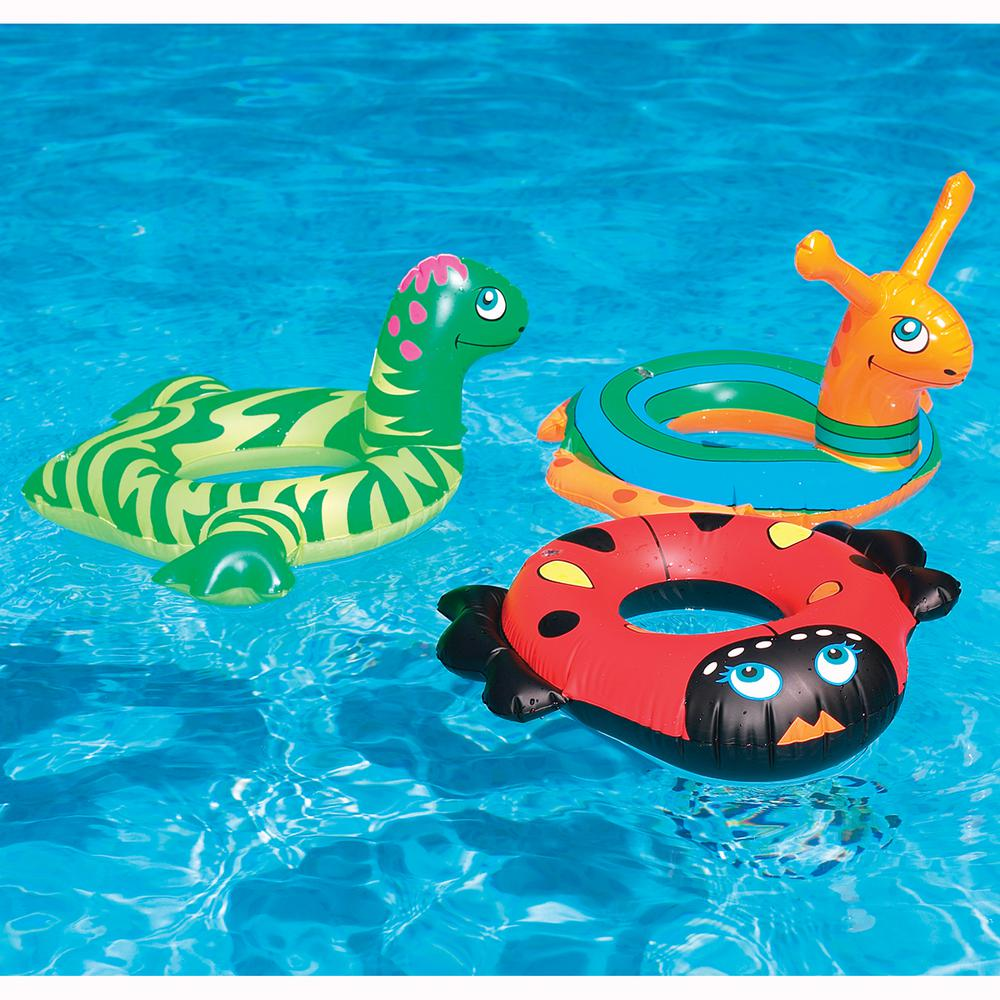 Swimline 24 in. Assorted Animal Head Ring Pool Float
