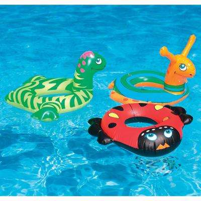 24 in. Assorted Animal Head Ring Pool Float