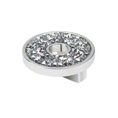 Swarovski Crystal Collection 1.25 in. Chrome/Crystal Knob