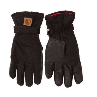 Large Black Insulated Work Gloves (2-Pack)