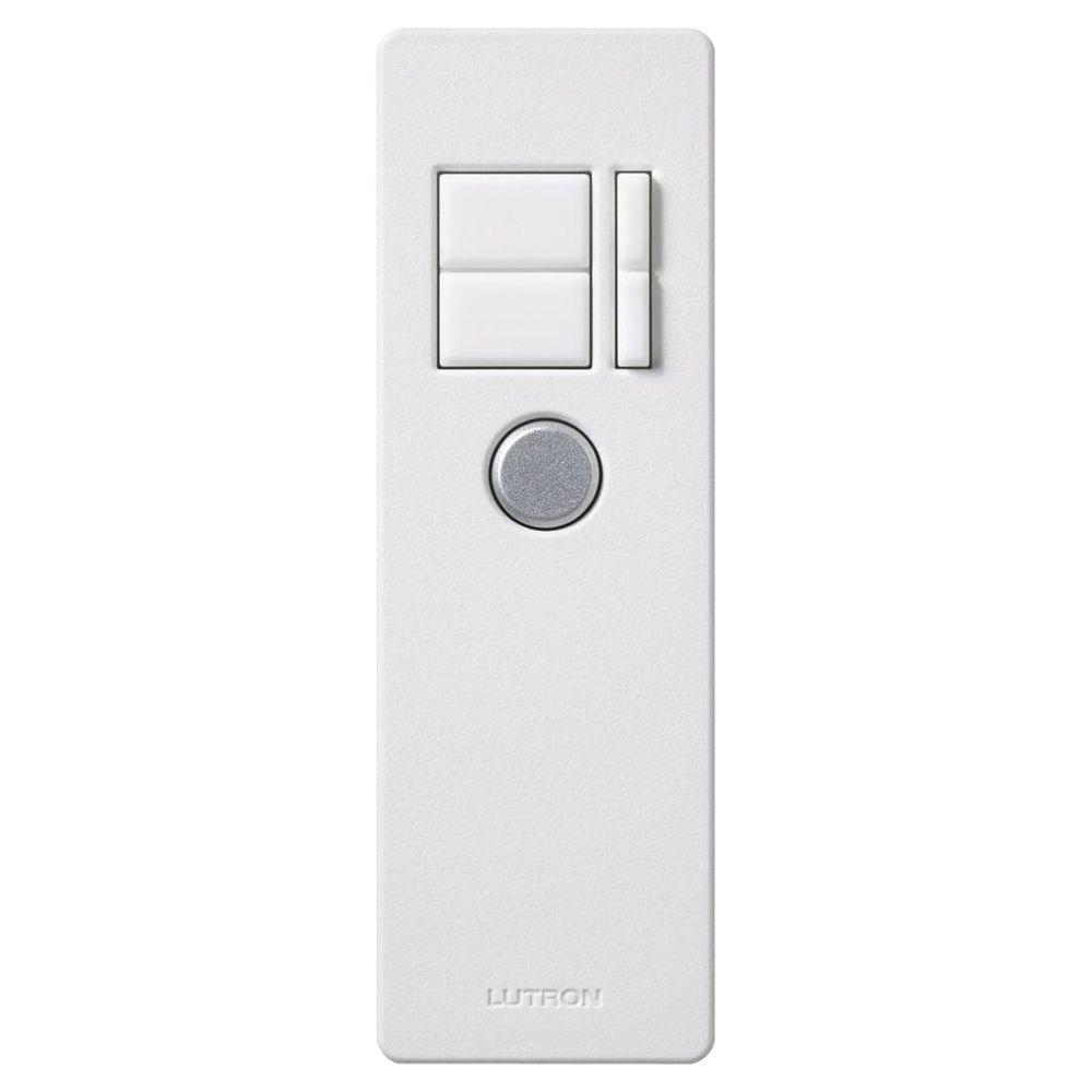 lutron maestro ir remote control white mir itfs wh the home depot. Black Bedroom Furniture Sets. Home Design Ideas