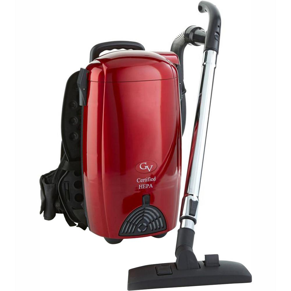 Gv Battery Ed 8 Qt Commercial Backpack Vacuum Cleaner
