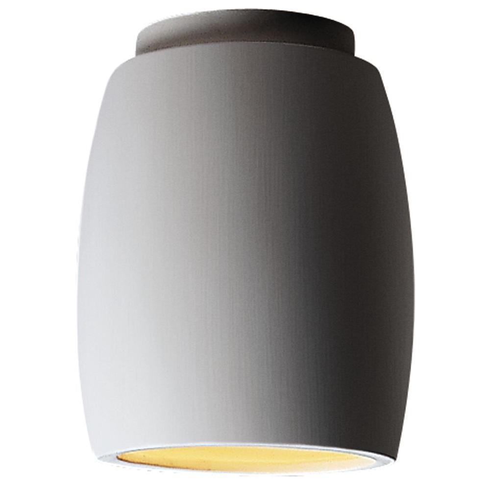 Filament Design Leonidas 1-Light Ceiling Paintable Ceramic Bisque Incandescent Flush Mount