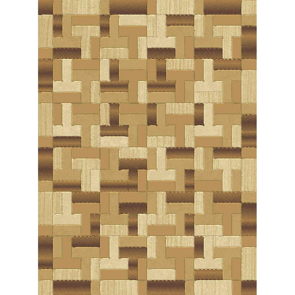 Natco Shadows Chameleon Brown 7 ft. 10 in. x 10 ft. 10 in. Area Rug