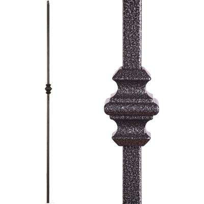 Versatile 44 in. x 0.5 in. Silver Vein Single Knuckle Hollow Wrought Iron Baluster