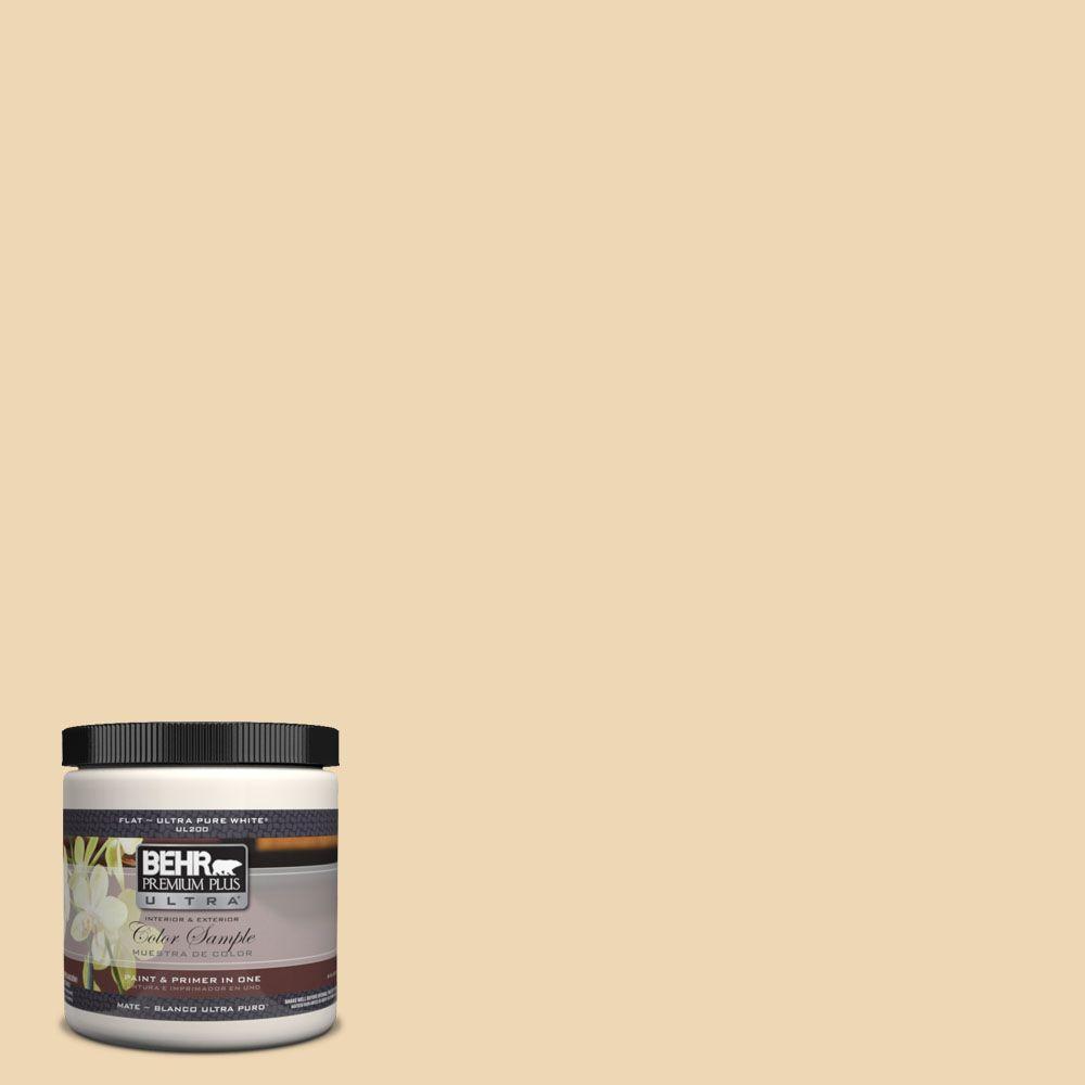 BEHR Premium Plus Ultra 8 oz. #UL180-17 Hummus Interior/Exterior Paint Sample