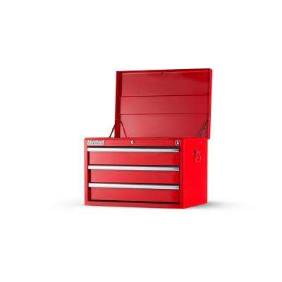 Workshop Series 27 in. 3-Drawer Top Chest in Red