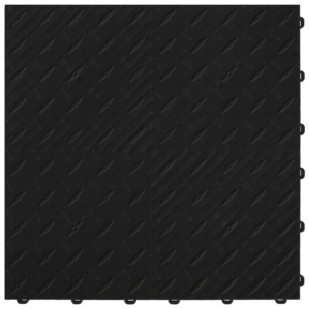 15.75 in. x 15.75 in. Jet Black Diamond Trax 25-Tile Modular