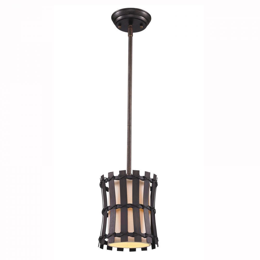 null Havana 1-Light Corsini Bronze Incandescent Mini Pendant