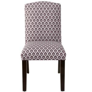 Amazing Skyline Furniture Elliot Floral Plum Camel Back Dining Chair Squirreltailoven Fun Painted Chair Ideas Images Squirreltailovenorg