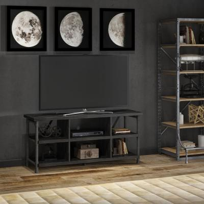 Irondale Grant Oak Brown Entertainment Center