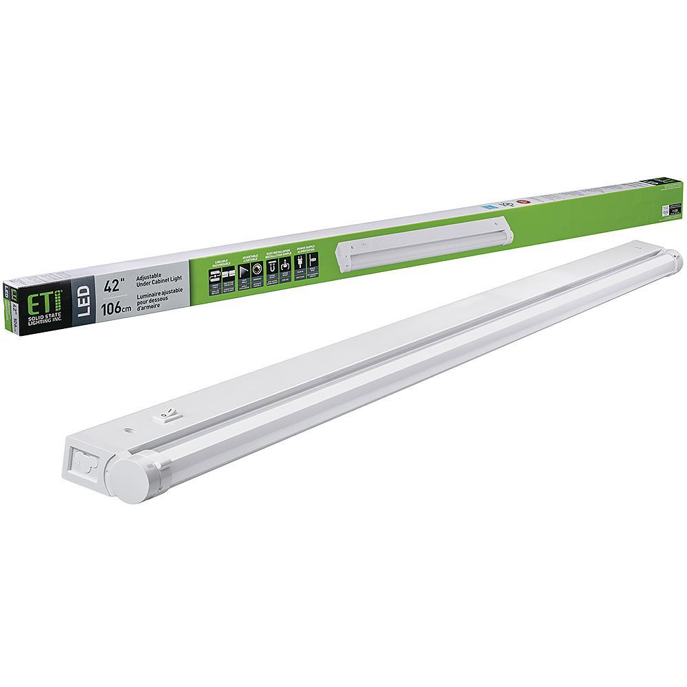 42 in.LinkableLED Beam Adjustable Under Cabinet Light Plug inorDirect Wire 1500 Lumens 3000K Dimmable