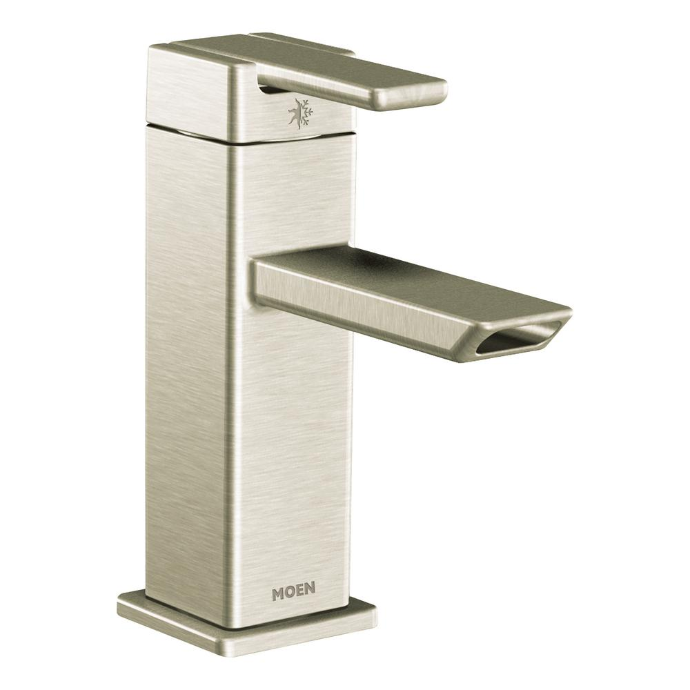 90-Degree Single Hole Single-Handle Eco-Performance Bathroom Faucet in Brushed