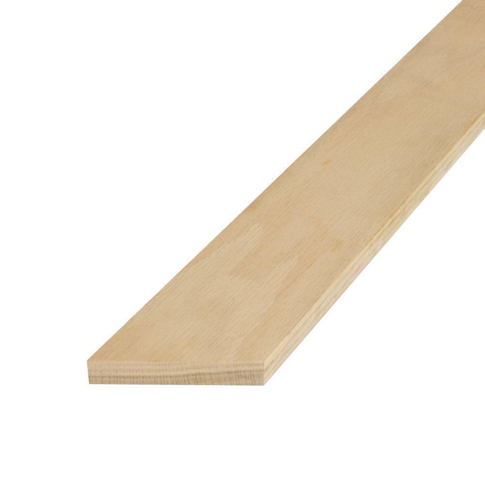 1 in. x 4 in. x 8 ft. S4S Untreated Oak Board
