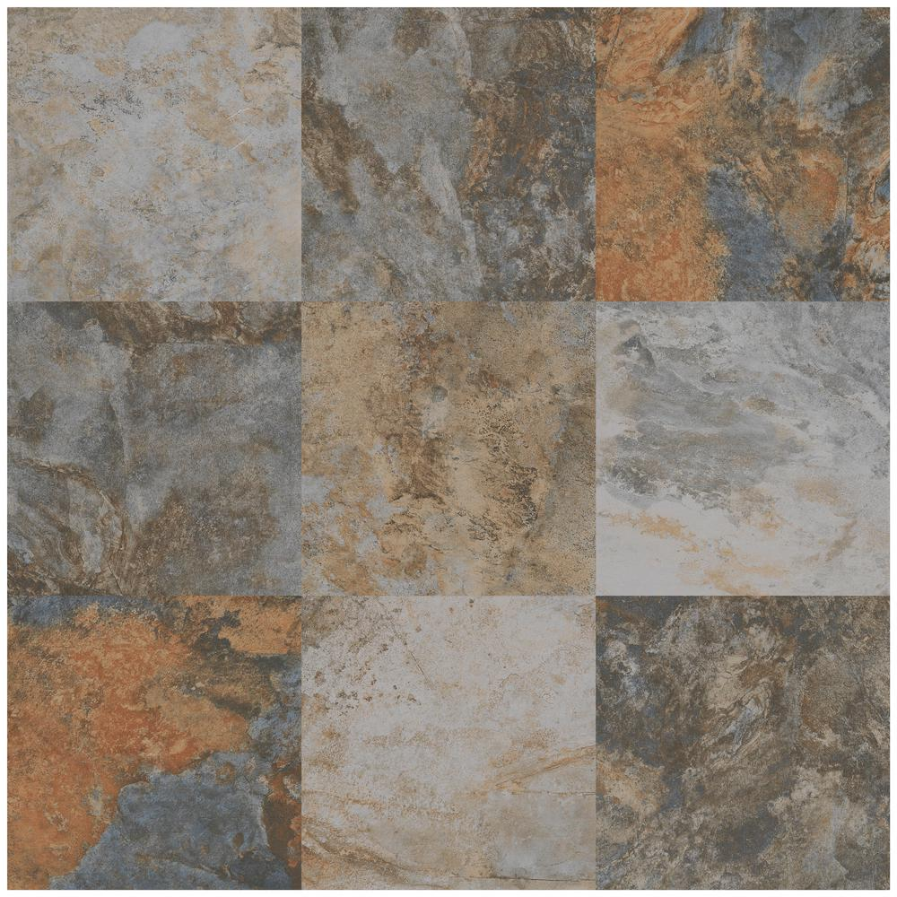 Florida Tile Home Collection Hematite Autumn 12 In X 12 In