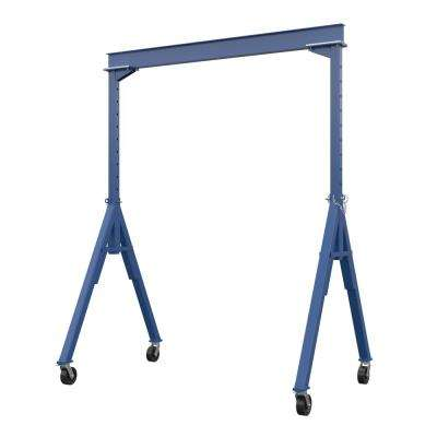 4,000 lb. 10 ft. x 14 ft. Adjustable Height Steel Gantry Crane