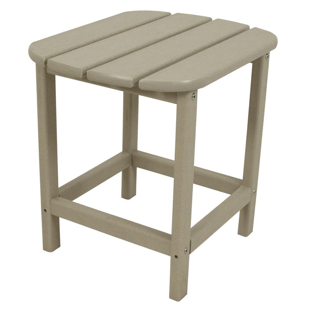 Polywood South Beach 18 In Sand Patio Side Table