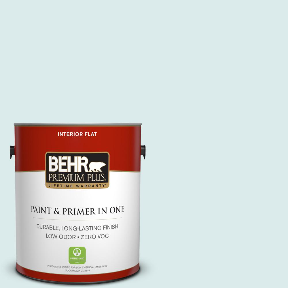 BEHR Premium Plus 1-gal. #510E-1 Ice Folly Zero VOC Flat Interior Paint