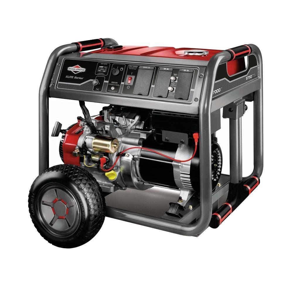 Briggs & Stratton Elite Series 7,000-Watt Gasoline Powered Portable Generator