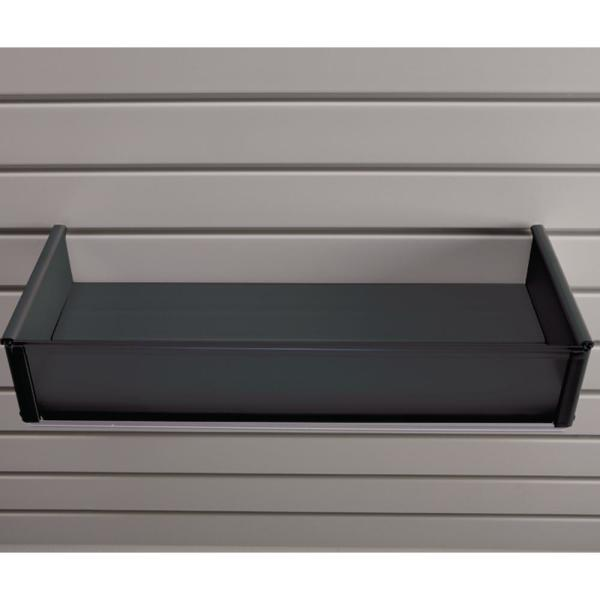 Plastic 8 in. x 20 in. Slat Wall Basket in Black
