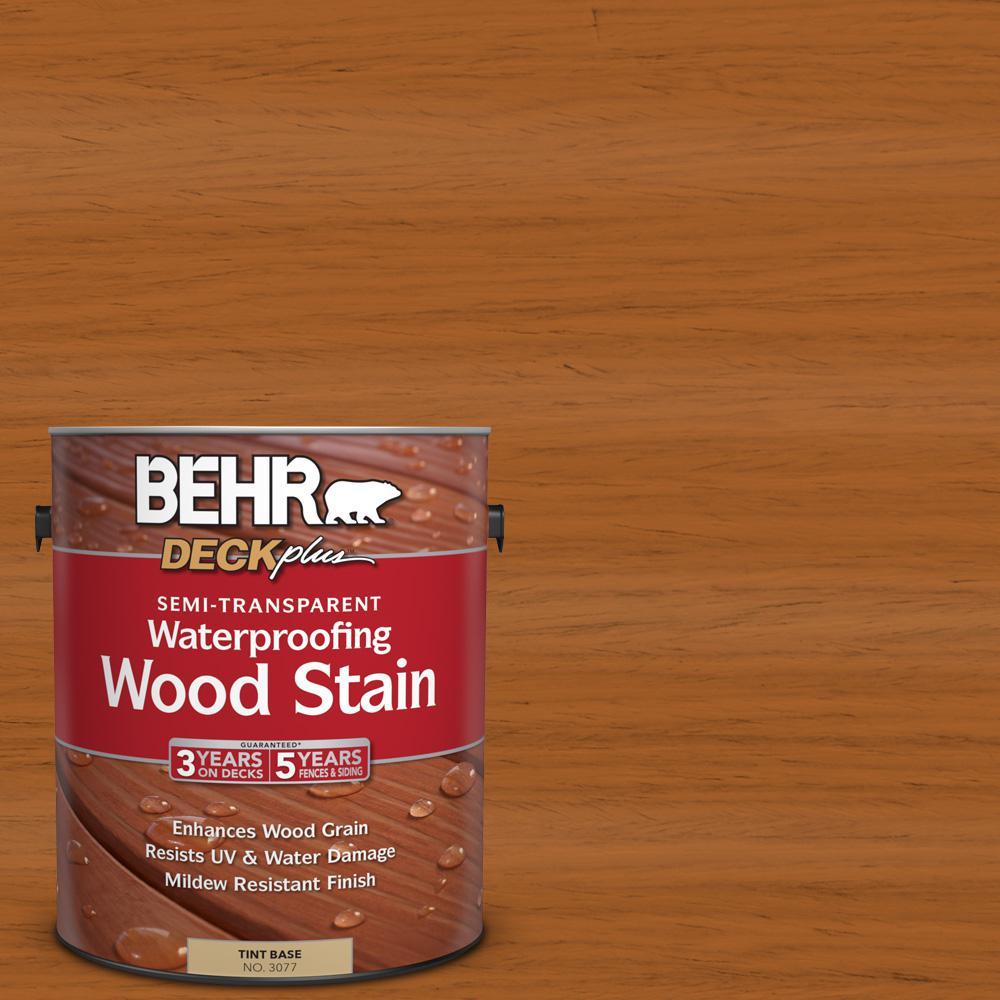 BEHR DECKplus 1 gal. #ST-533 Cedar Naturaltone Semi-Transparent Waterproofing Exterior Wood Stain