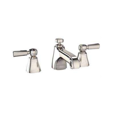 Guinevere 8 in. Widespread 2-Handle Bathroom Faucet with Cross Handles in Polished Nickel