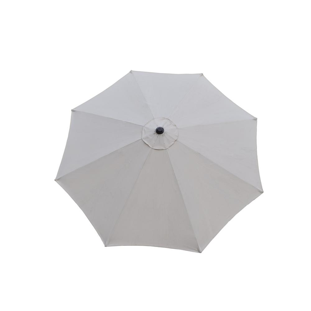 9 ft. Tilt Patio Umbrella in Beige and Cast Poly Resin