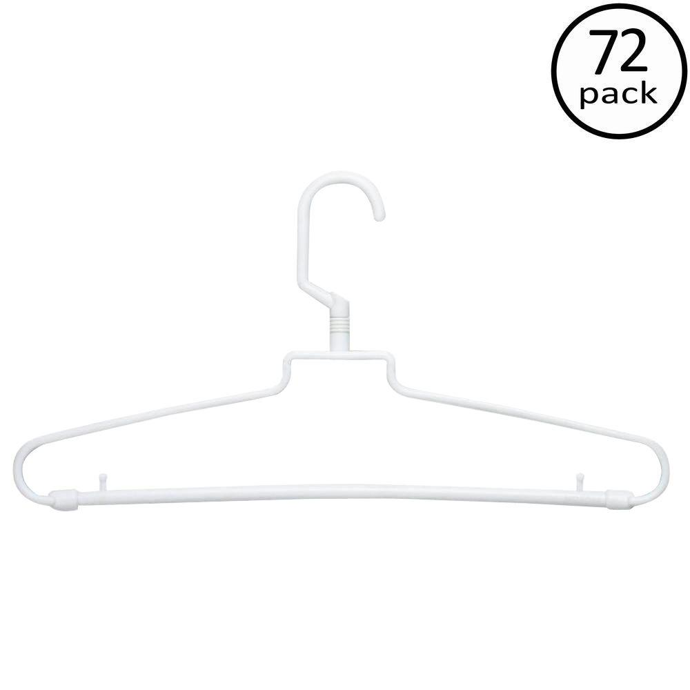 Honey-Can-Do White Hotel Style Hangers (72-Pack)