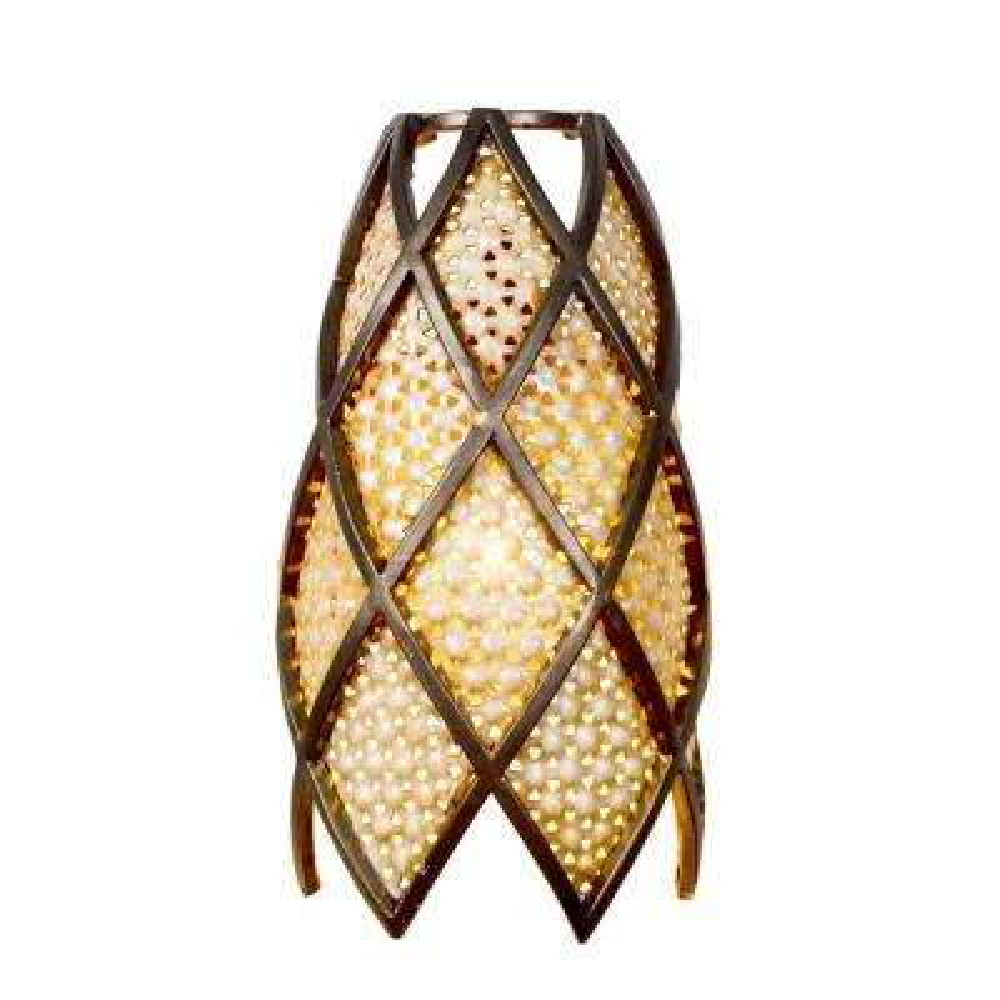 Argyle 1-Light New Bronze and Desert Pearl Sconce