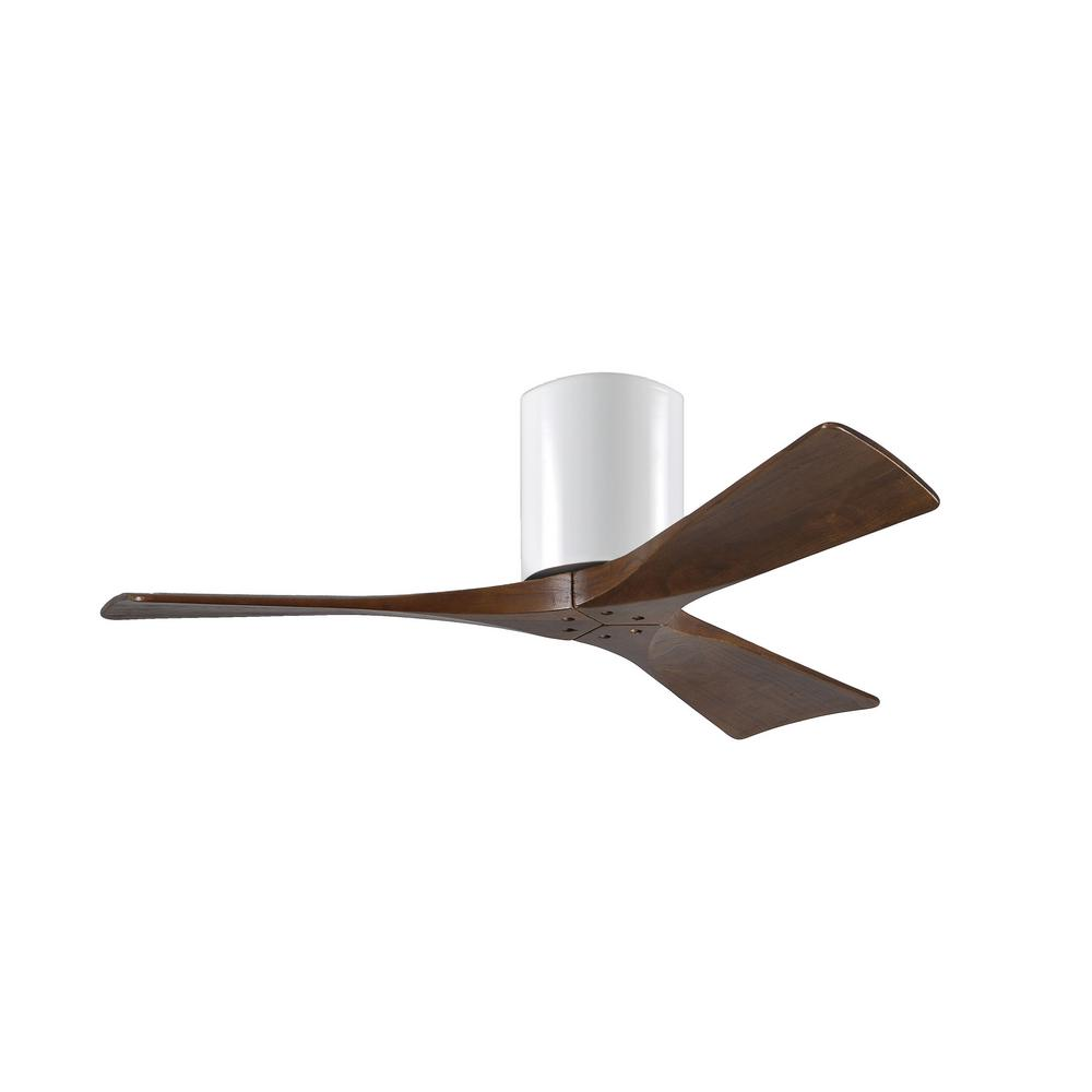 Atlas Irene 42 in. Indoor/Outdoor Gloss White Ceiling Fan with Remote Control and Wall Control