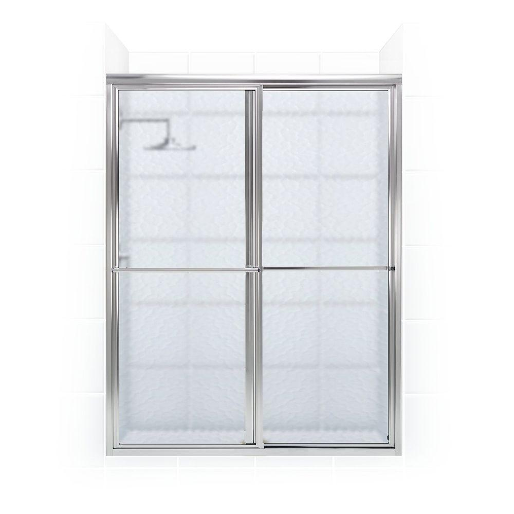 Newport Series 42 In. X 70 In. Framed Sliding Shower Door With Towel Bar