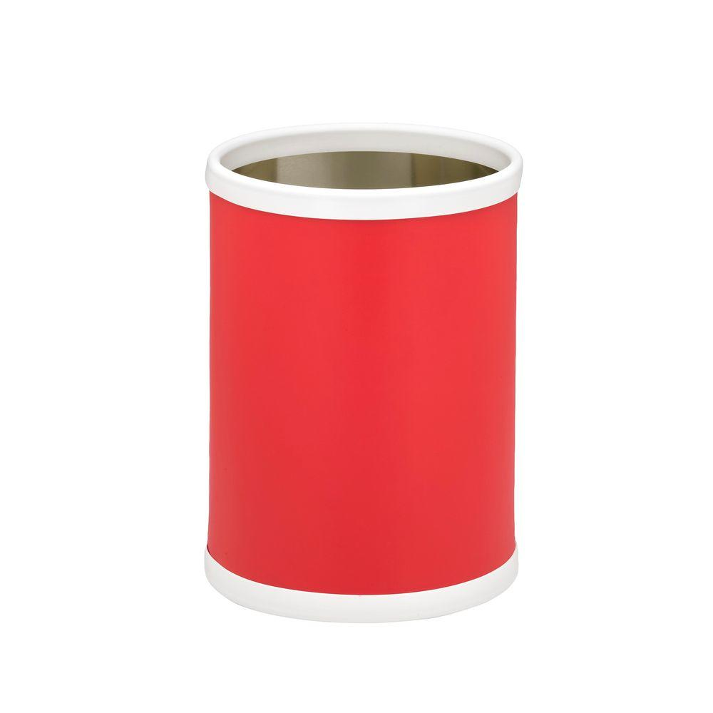 Fun Colors 8 Qt. Red Round Waste Basket