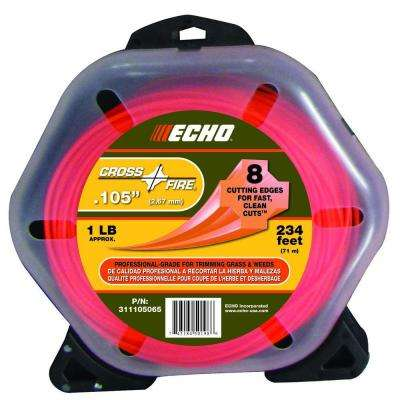 ".105"" Cross-Fire Trimmer Line (234 ft.) Large Clam"