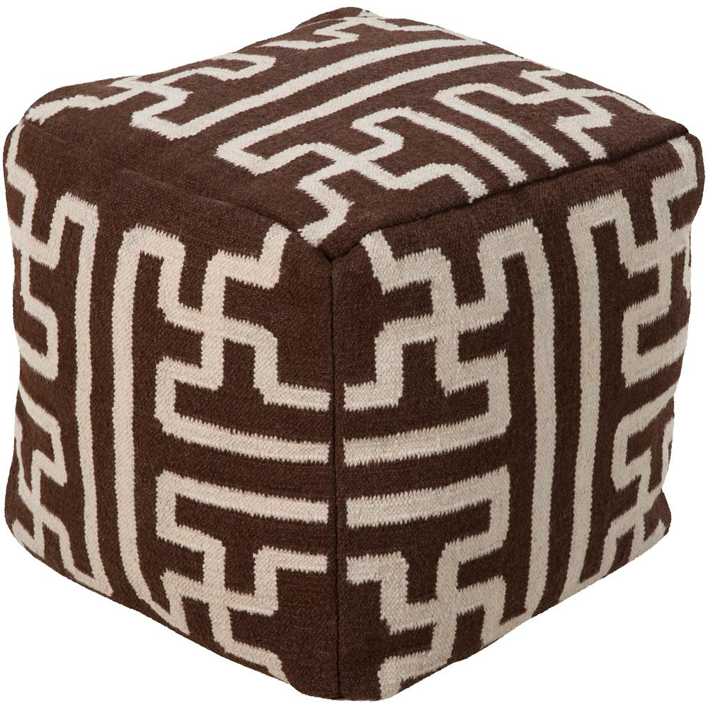 Alauda Dark Brown Accent Pouf