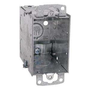 Steel City 3 inch Steel Electrical Box with 1/2 inch Knockouts and Non-Metallic Cable... by Steel City
