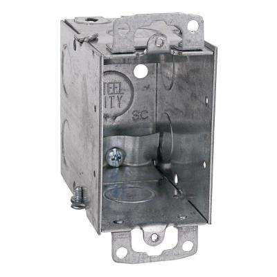 3 in. Steel Electrical Box with 1/2 in. Knockouts and Non-Metallic Cable Clamps (Case of 25)