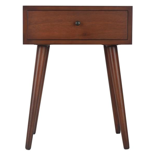 Decor Therapy Mid Century Walnut 1-Drawer End Table FR6322
