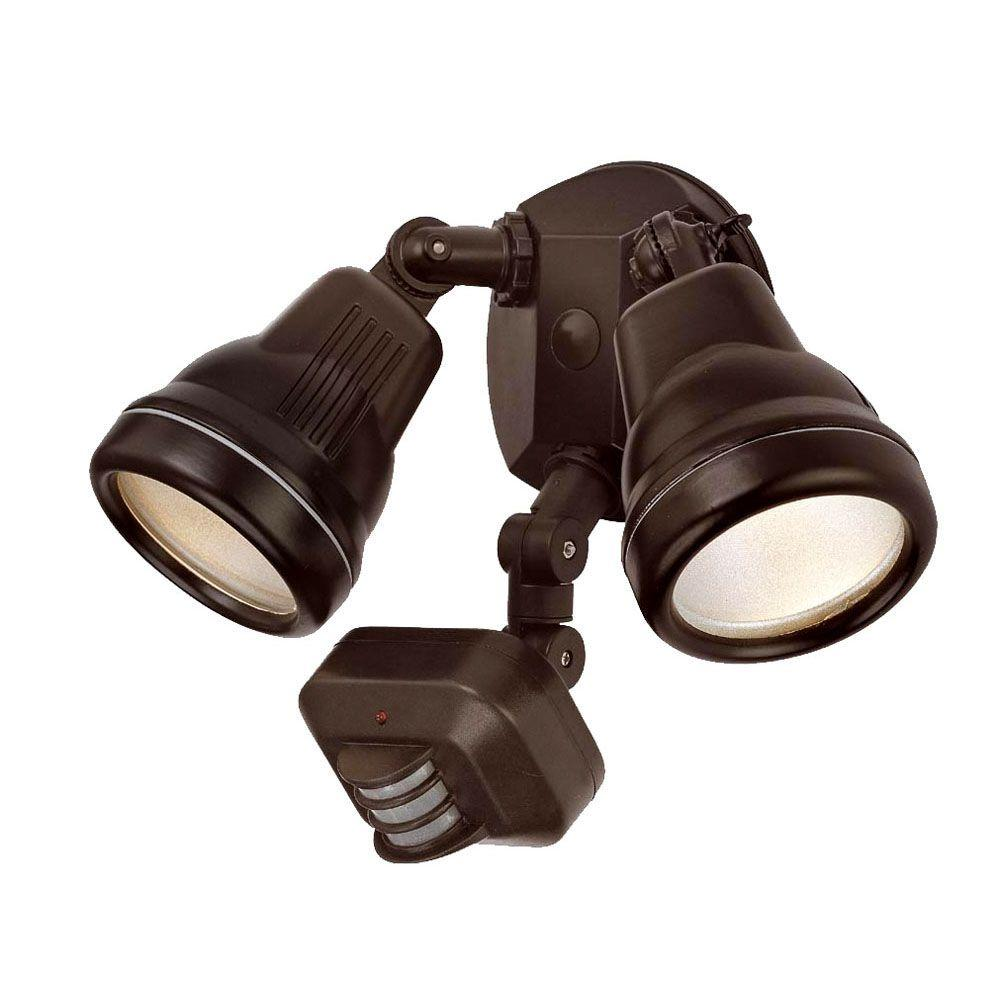 Acclaim Lighting 2 Light Architectural Bronze Outdoor Motion Activated Flood Light