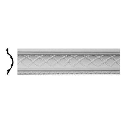 9 in. x 7-3/4 in. x 96 in. Polyurethane Brightton Crown Moulding