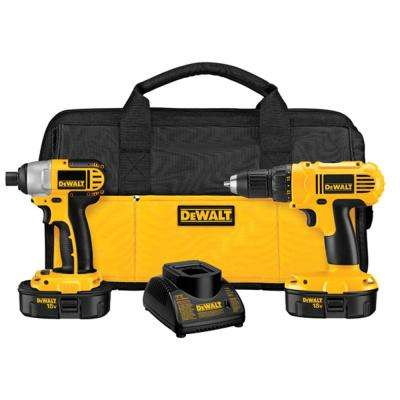 18-Volt NiCd Cordless Drill/Driver and Impact Driver Combo Kit (2-Tool) with (2) Batteries 1.2Ah, Charger and Bag