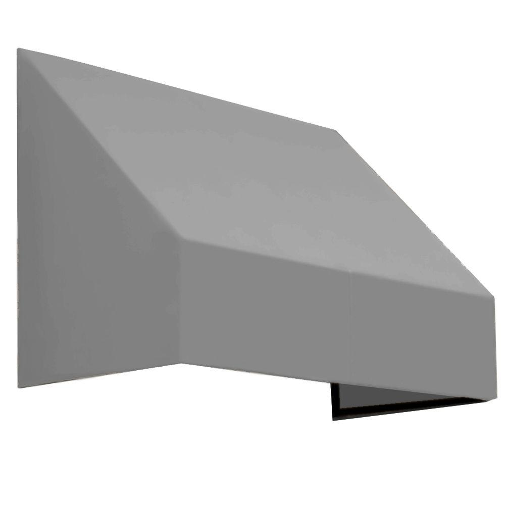 AWNTECH 10.38 ft. Wide New Yorker Window/Entry Awning (44 in. H x 36 in. D) Gray