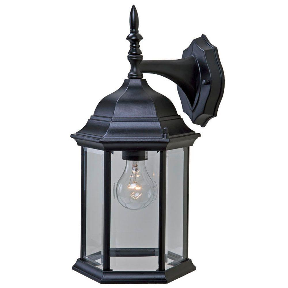 Craftsman 2 Collection 1-Light Matte Black Outdoor Wall-Mount Fixture