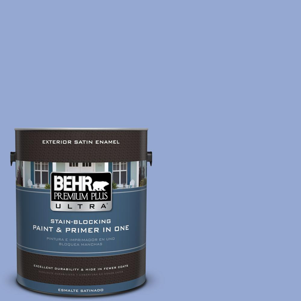BEHR Premium Plus Ultra 1-gal. #M540-4 Hopeful Dream Satin Enamel Exterior Paint