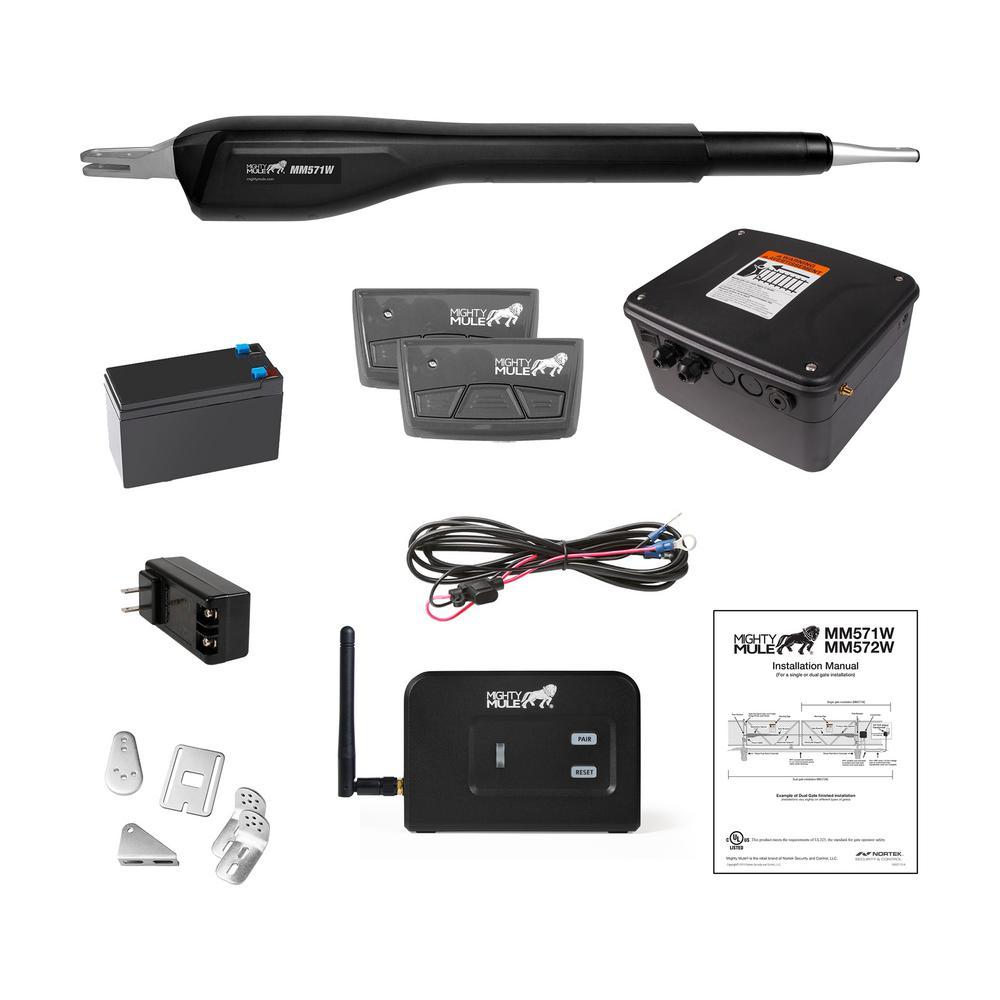 MM571W-ACP Includes 1-Gate Opener, 2-MMT103 Transmitters, 1-MMK200 Wireless Keypad, 1-MM138 Wireless Vehicle Sensor