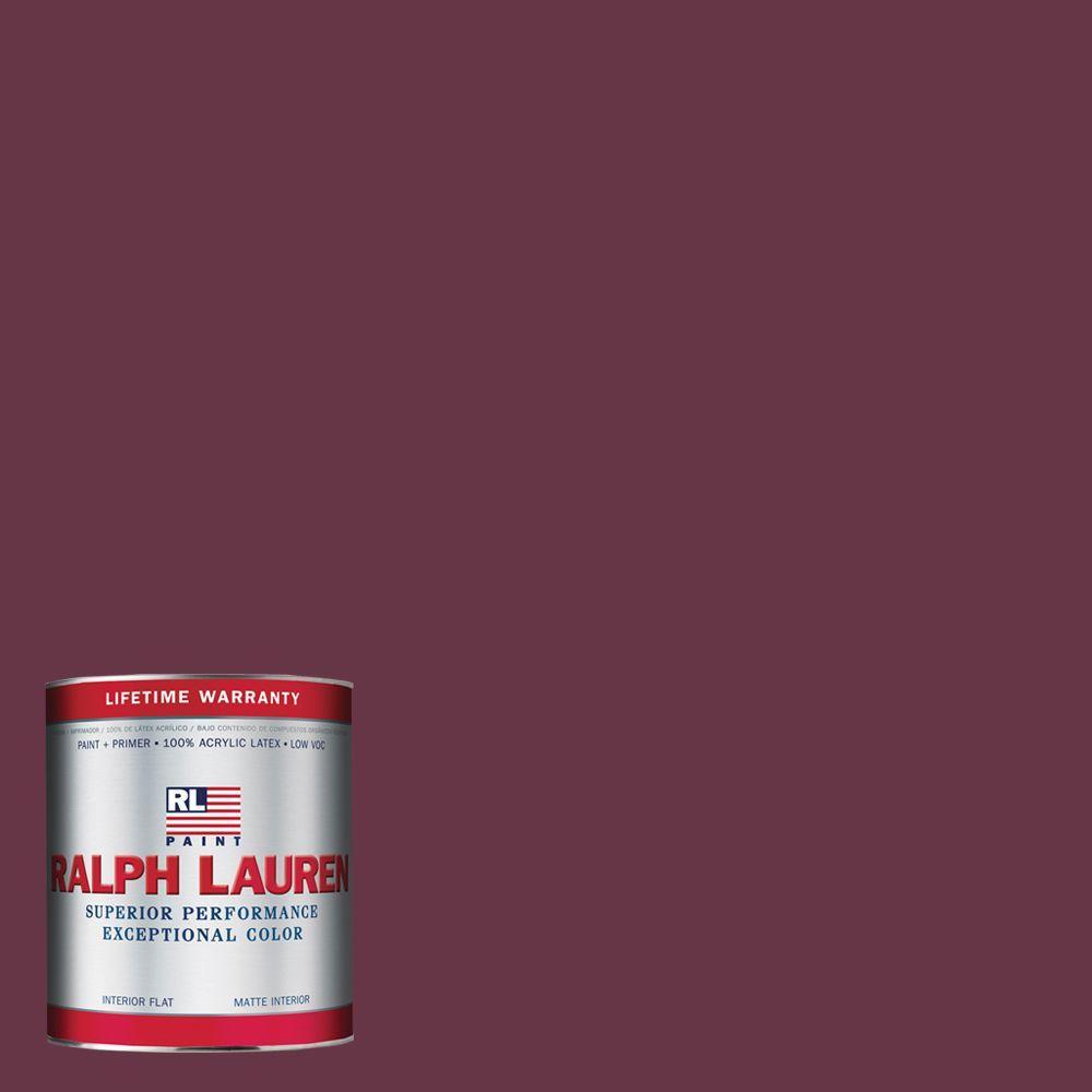 Ralph Lauren 1-qt. Marston Red Flat Interior Paint