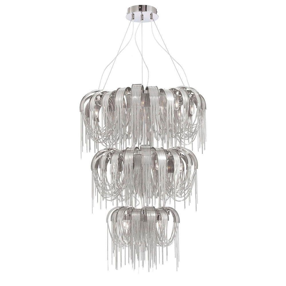 Eurofase Avenue Collection 17-Light Nickel Chandelier-DISCONTINUED