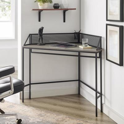 Grey Wash Industrial Style Corner Desk
