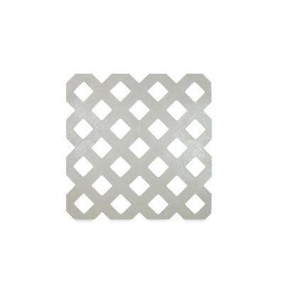 0.125 in. x 48 in. x 8 ft. Weathered Gray Privacy Plastic Lattice (2-Pack)