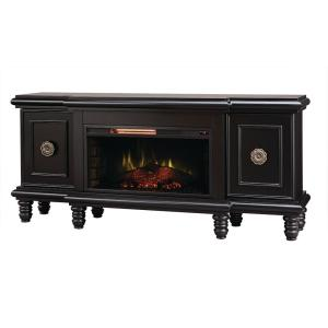 Home Decorators Collection Athens 63 inch TV Stand with Bluetooth Electric Fireplace in... by Electric Fireplaces