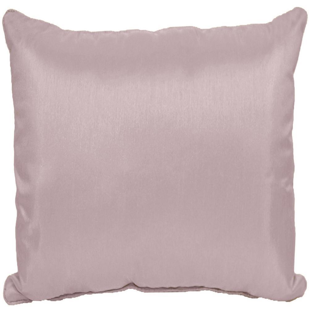 Solid Lavender Faux Silk Standard Decorative Pillow